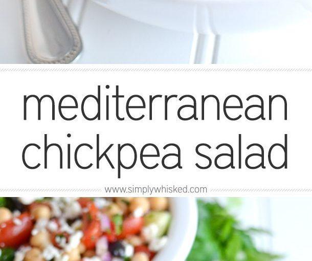 Mediterranean Chickpea Salad | einfaldlegawhisked.com