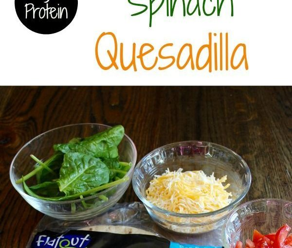 High Protein Black Bean Spinach Quesadilla. Healthy to eat for weight loss: www ….