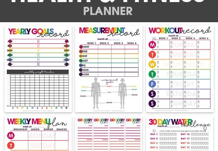 Health and fitness planner | Print friendly | organizational prints | weight loss t …