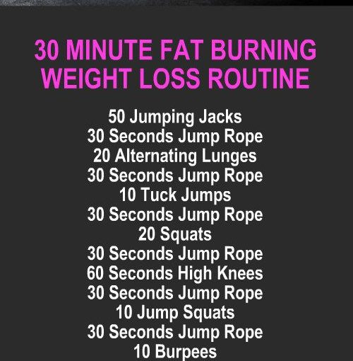30 minutes fat burning weight loss routine that burns 1500 calories. Learn about …