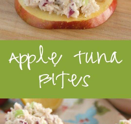 Apple tuna bit. I chopped the apple and put it straight into the salad. I enjoy …