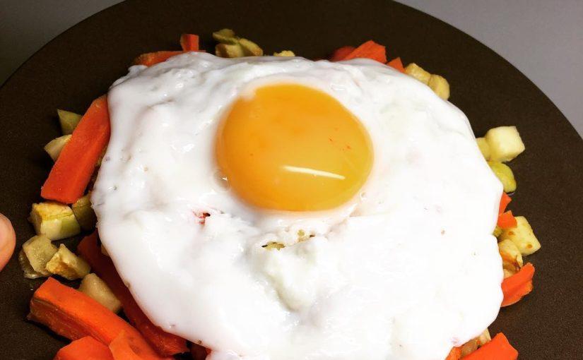 Monday 29-01 Dinner  – Baked legume 150gr / 60kcal – fried egg 80kcal – just …