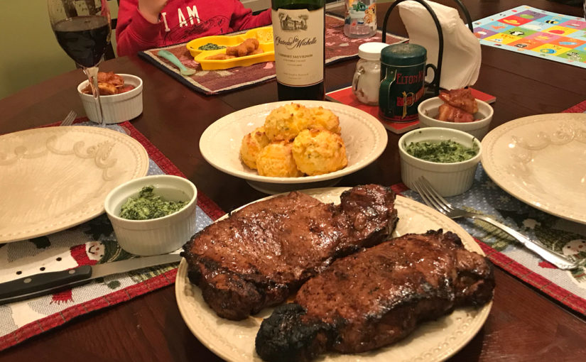 Delicious. I stuck for this meal all day long. And it was more than worth it! Steak ….