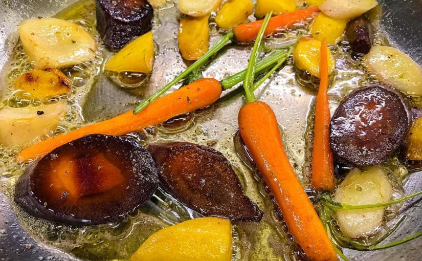 magic of colored dreams on your hard drive #carotte in #butter #garnish #vegetables …