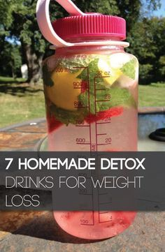 7 healthy detox water recipes to increase metabolism and burn fat!