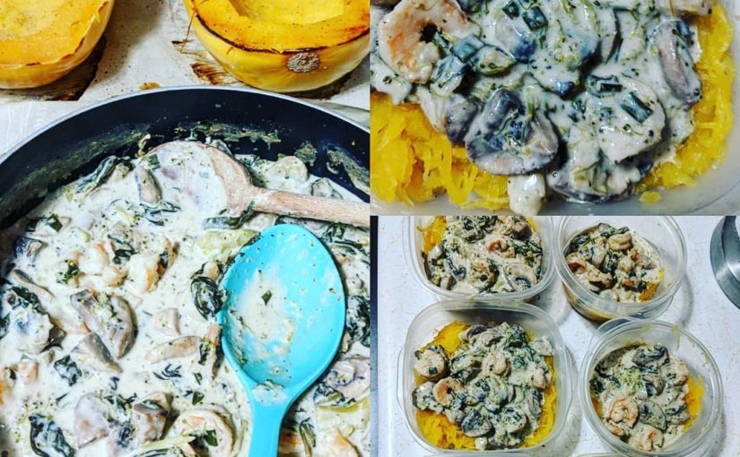 Meal prep day! I longed for Alfredo sauce so hard I decided to make a healthy …