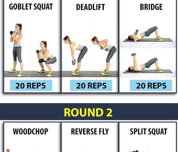 How to lose 10 pounds in 3 weeks? Practice dumbbell workout schedule for fast weight …