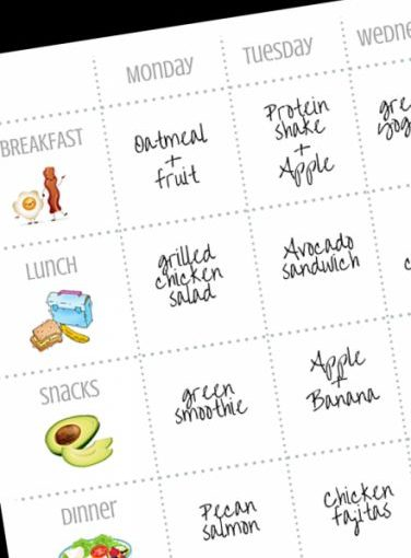 Free 1-PagePrintable Fitness Planner: Plan your meals, workout habits and trustworthy …