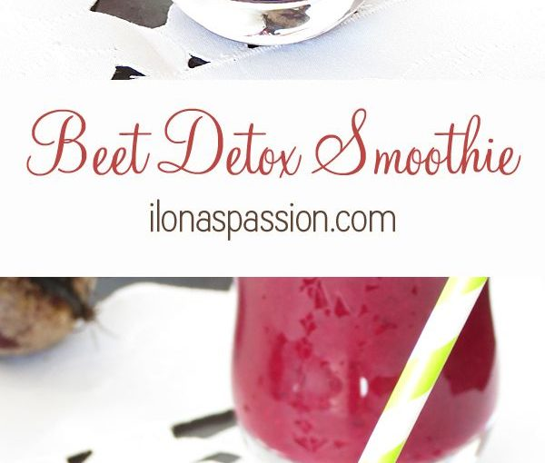 Beet Detox Smoothie – healthy beet smoothie with banana, blueberries and strawbe …