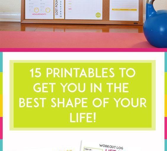 Motivational Fitness Printables – Weight Loss Printables