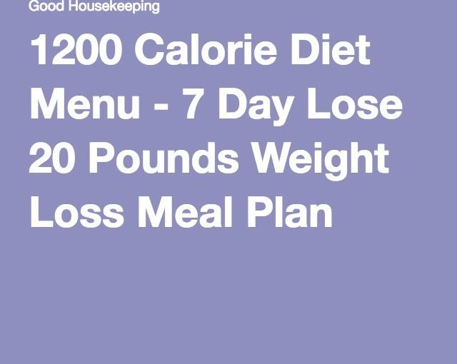 1200 Calcium Diet Menu – 7 Days Lose 20 Pounds Weight Loss Schedule