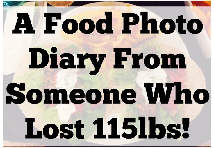 A Food Photo Diary from someone who lost 115 pounds. realistic healthy weight loss …