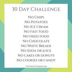 30 days challenge weight loss Journey Triplet Farm thetripletfarm.com
