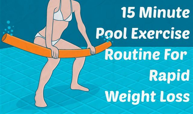 This 15-minute pool exercise routine will help you get fit in a way that is …