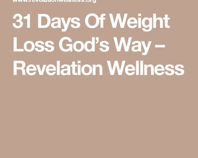 31 Days of God's Weight Loss – Revelation