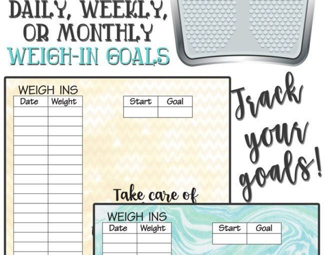Motivational Weight Tracking Image To Help You Be Healthy!