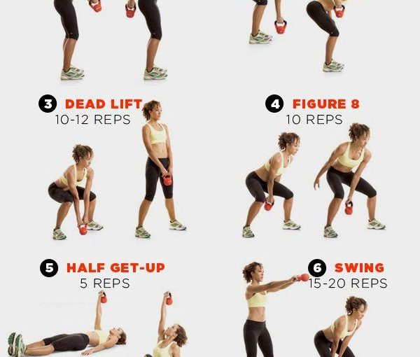 8 Kettlebell exercises that will decorate your entire body www.womenshealthm …