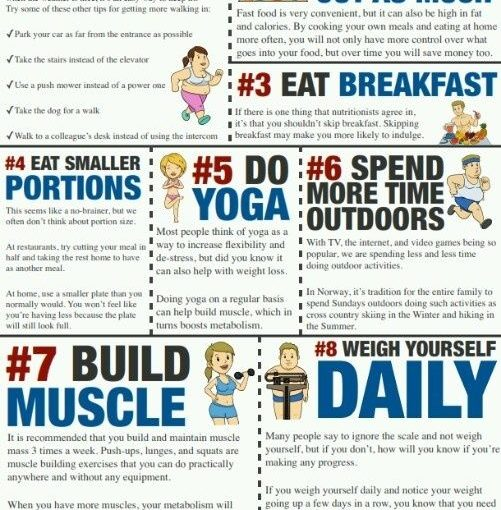 10 tips for weight loss! Great reminder here.