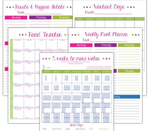 fitness planner printables for free