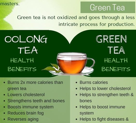 Oolong tea and green tea are similar to health benefits, but oolong tea …