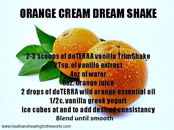 Weight loss Orange Cream Dream Smoothie with DoTERRA Slim and Trim Powder. Use …