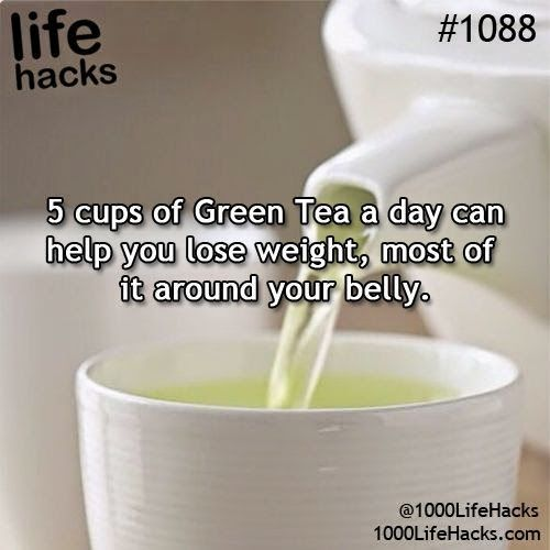 5 cups of green tea a day can help you lose weight, most of it around your stomach …