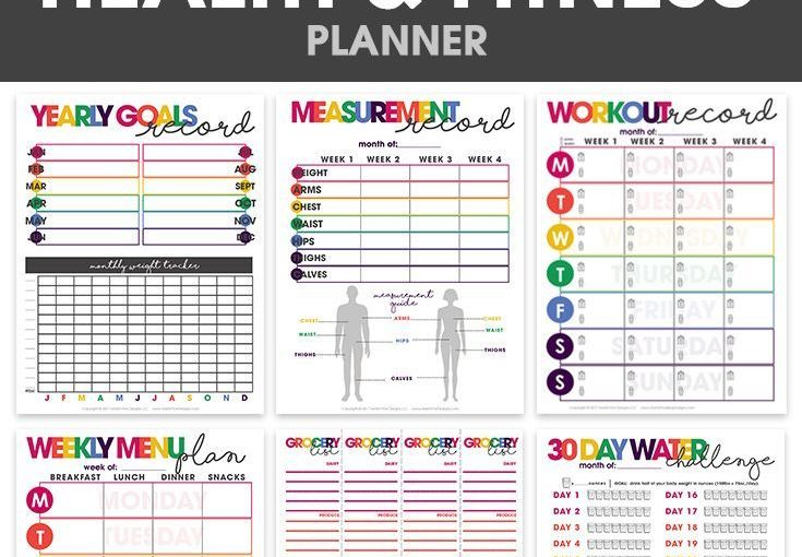 Health and fitness planner | Print friendly | organizational prints | weight loss …