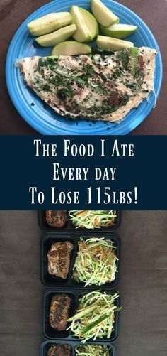 I have food every day to lose 115 pounds! If you were all curious about the foo …