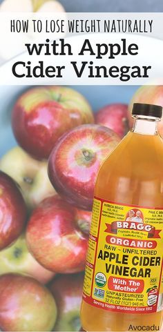 Apple Cider vinegar is a natural detoxifier that helps break down fat in the urine.