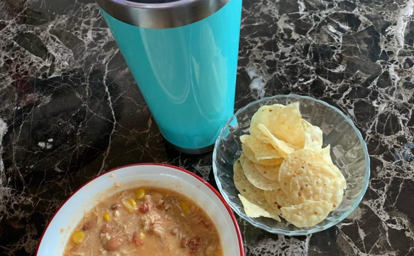 Lunch on repeat from yesterday. Taco soup was perfect on this black gray day. 4 p …