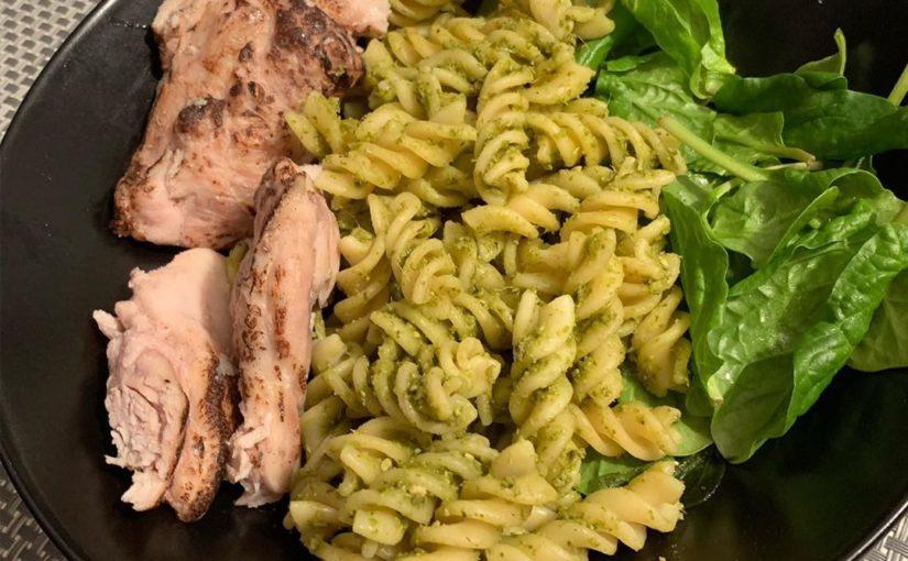 Tonight tea was pesto pasta I used 2 tbsp of reduced fat of pesto from sainsburys (3 …