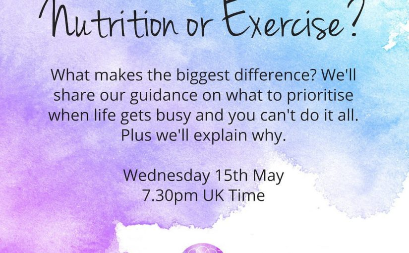Join us Wednesday at 7.30pm in the UK for a live exercise this week as we speak …