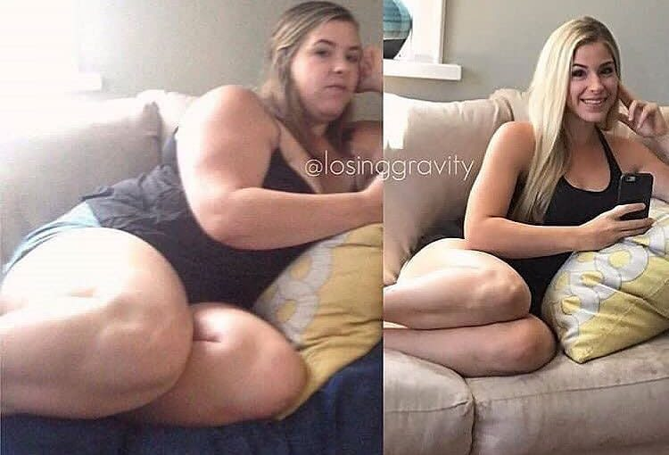 """Two years between these! Healthy eating / exercising .. no special effects. No """"quick fixes …."""