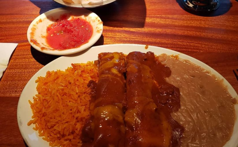 Lunch at 10sp. Swipe for tracking. I always eat one enchilada and maybe french fries …